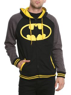 DC Comics Batman Raglan Hoodie - Batman Shirt - The coolest Batman Shirt ever - DC Comics Batman Raglan Hoodie Batman Hoodie, Superman Shirt, I Am Batman, Batman Stuff, Batman Logo, Nananana Batman, Edgy Outfits, Rock Outfits, Couple Outfits