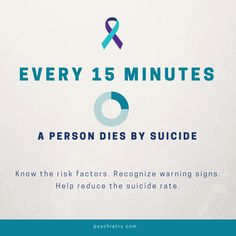 Know risk factors, help reduce the suicide rate. #SuicidePreventionMonth