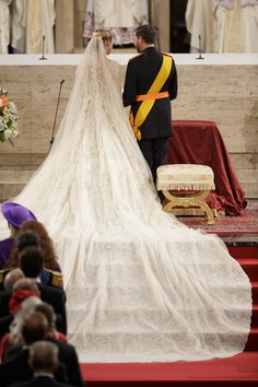 Countess Stephanie de Lannoy wore an ELIE SAAB Haute Couture wedding dress for her marriage to HRH Prince Guillaume.