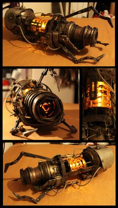 Steampunk Handheld Portal Device made from odds and ends including, but not limited to: plumbing parts, plastic lids/tubing, cardboard, tons of Superglue.