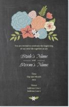 chalkboard floral Invitations & Announcements