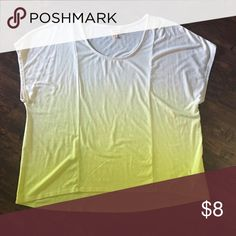 Ombré oversized summer shirt Oversized neon ombré summer shirt. Great to pair with denim shorts and a colorful bra underneath! Don't be afraid of sizing as it hangs great off the body. Mossimo Supply Co Tops Tees - Short Sleeve