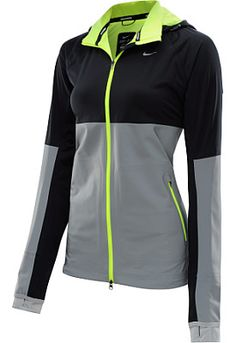 This NIKE Women's Shield Flash Full-Zip Running Jacket is built to meet your outdoor running needs - check it out!