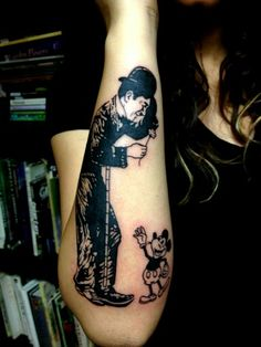 the founding father of motion picture charlie chaplin in tattoos tat2s pinterest. Black Bedroom Furniture Sets. Home Design Ideas