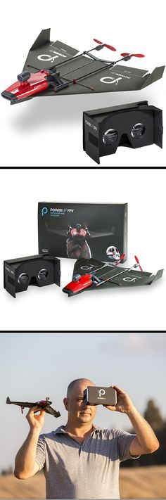 Get a bird's eye view of the world by taking to the friendly skies with this paper airplane VR drone. It can fly for 10 m New Electronic Gadgets, New Gadgets, Electronic Gifts, Radio Controlled Aircraft, Flying Drones, E Sport, Cool Electronics, Rc Hobbies, Drone Technology