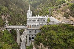 Las Lajas Sanctuary, Colombia Photo Credit: Getty   via @AOL_Lifestyle Read more: http://www.aol.com/article/news/2016/12/12/18-astonishing-places-of-worship-from-around-the-world/21626108/?a_dgi=aolshare_pinterest#fullscreen