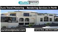 Euro Trend Plastering is providing rendering services in Perth. Our rendering services ensure resistance to salt, flexural strength, toughness and adhesion. Contact Euro Trend Plastering today: http://eurotrendplaster.com/house-rendering-services-perth/