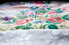 Hand embroidery on the scarfs from Łowicz Scarfs, Hand Embroidery, Polish, Tapestry, Lace, Home Decor, Hanging Tapestry, Scarves, Vitreous Enamel