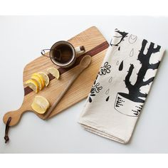 Hearty Plants Towel - Native Bear x Recycled Cotton Photography Tea, Flat Lay Photography, Product Photography, Dish Towels, Tea Towels, Portland, Personal Altar, Pastel House, Altar Cloth