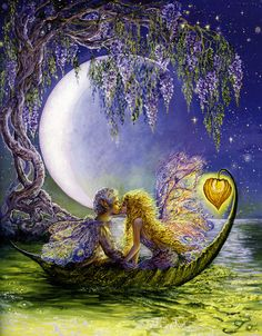 Wisteria Moon by Josephine Wall