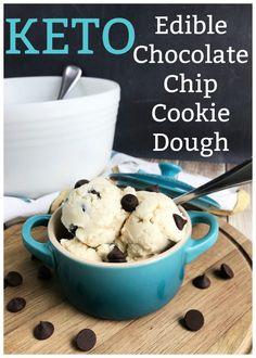 Keto Edible Chocolate Chip Cookie Dough