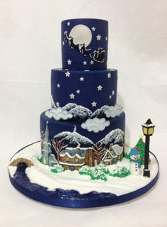 It's Christmas  for Cakes & Sugarcraft Mag by Dragons and Daffodils Cakes