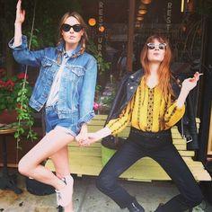 Camille Rowe Off Duty Street Style Inspiration Bianca Jagger, Charlotte Rampling, Twiggy, Alexa Chung, Camille Rowe Style, Looks Style, My Style, Denim Fashion, Daily Fashion