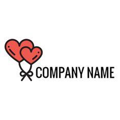 Red Balloon and Heart logo design Balloon Logo, Red Balloon, Balloons, Custom Logo Design, Custom Logos, Graphic Design, Online Logo, Teepees, Heart Logo