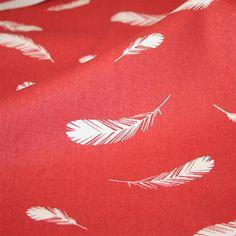 Charley Harper Nurture Canvas - Feathers Coral | HoneyBeGood