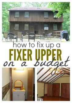 Home Renovation On A Budget - Buying a fixer upper is a great way to quickly build equity. But it can also be expensive. Here's are plans to fix a fixer upper on a budget. Home Improvement Loans, Home Improvement Projects, Home Renovation, Home Remodeling, Farmhouse Renovation, Basement Renovations, Kitchen Remodeling, Decoration Ikea, Home Buying Process
