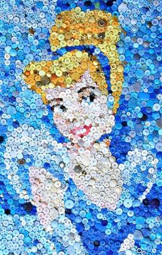 Button Art Collage..
