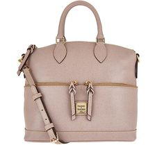 Carry it all with this gorgeous leather satchel from Dooney & Bourke. QVC.com