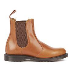 Designer Clothes, Shoes & Bags for Women Flat Leather Boots, Leather Ankle Boots, Tan Leather, Flat Booties, Ankle Booties, Tan Chelsea Boots, Tan Ankle Boots, Dr Martens Boots, Short Boots