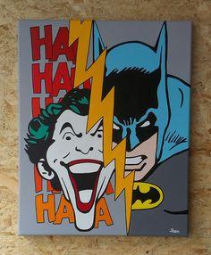 Batman vs The Joker (acryl on canvas, 40cm x 50cm, 07/2014)