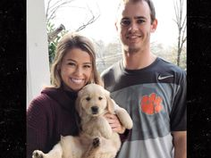 Hunter Renfrow Gets VICTORY PUPPY ... And He's Adorable (PHOTO GALLERY + VIDEO)