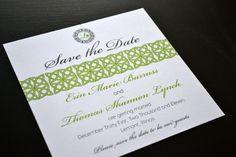 Irish Save the Date Elegant Celtic Monogram by imaginationpad