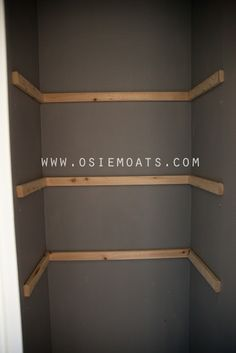 DIY CLOSET SHELVING~ For The Closet In The Hallway By The Bedrooms