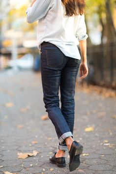 I got Ashika in her first pair of raw denim jeans. Check it out. Photo: Melodie Jeng