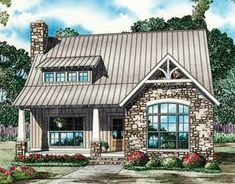 Rustic Cottage - 60598ND | Craftsman, Mountain, Vacation, Narrow Lot, 1st Floor Master Suite, Butler Walk-in Pantry, CAD Available, PDF | Architectural Designs