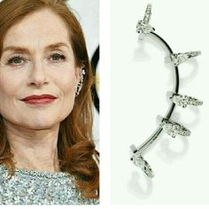 French actress Isabelle Huppert in the Golden Globes with the Serti Sur Vide earrings by Repossi in white gold with diamonds. Dress by Armani. Styled by Jonathan Huguet.  __________  La actriz francesa Isabelle Huppert en los Globos de Oro con los pendientes Serti Sur Vide de Repossi de oro blanco con diamantes. Vestido de Armani. Estilismo de Jonathan Huguet.  __________  #DeJoyaEnJoya #FromJewelToJewel #IsabelleHuppert #actress #GoldenGlobes2017 #GoldenGlobes #GoldenGlobesJewelry…