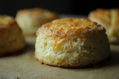 Cheese Biscuits recipe on @Food52. To save time, I would just cut these up into squares. Round biscuits are nice but square biscuits leave no dough behind.