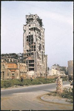 During World War II of Warsaw was destroyed. Dramatic snaps in colour show the centre of the city, including Śródmieście, Old Town and m. Warsaw City, Warsaw Poland, Poland History, Jewish History, Warsaw Uprising, Visit Poland, Poland Travel, Second World, Krakow