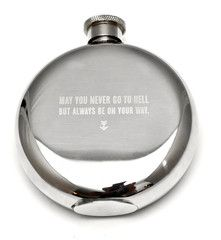 Flask  May you never go to hell  But always be on your way