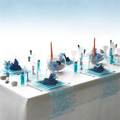 Décoration de table à thème maritime