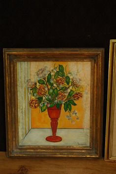 """Pair of paintings by Pauline Townsend (English, 21st century) measuring 22"""" x 18"""" and 16"""" x 14"""" respectively. Gallery label affixed on back. Well known and listed English artist known as the """"Silk Painter."""""""