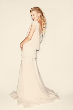 Capucin - Open Back top and long skirt with one ruffle. Changeable into a skirt. Delphine Manivet (EN)