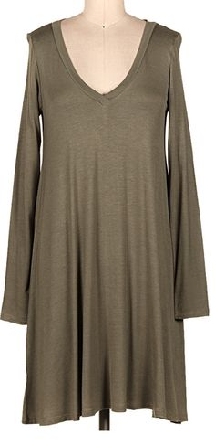 Swing into the Season Dress: Olive