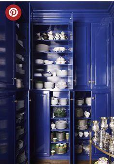 Ceiling Shelves, Nantucket Home, Veranda Magazine, Pantone 2020, Custom Sofa, Blue Rooms, White Rooms, Butler Pantry, Room Colors