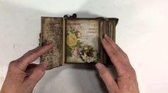 Tim Holtz Wallflower Mini Album by Ginger Ropp - mysistersscrapper on YouTube