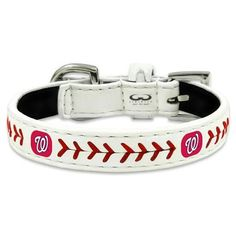 Washington Nationals Classic Leather Toy Baseball Collar
