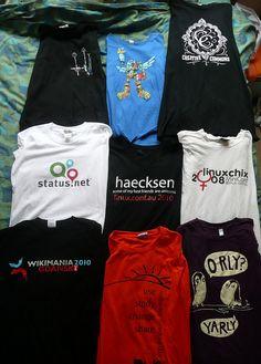 Geek t-shirts I still know & love by pfctdayelise, via Flickr