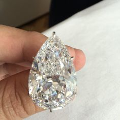 Yep....that's the actual size. A 50ct. D-FLAWLESS Diamond offered by @christiesjewels @christiesinc #christies