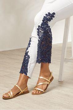Plus-size Parisa Embellished Denim   Soft Surroundings Soft Surroundings, Pull On Pants, Ankle Pants, Espadrilles, Plus Size, Legs, Denim, Fashion, Espadrilles Outfit