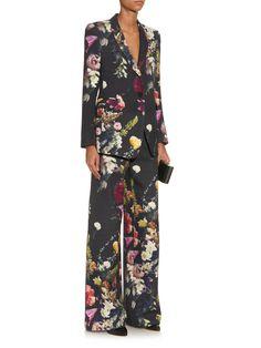 Boutique floral-print wide-leg trousers | Adam Lippes | MATCHESFASHION.COM UK