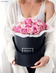 Flowerbox - pink roses