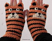TIGER FINGERLESS GLOVES - Free Shipping Worldwide