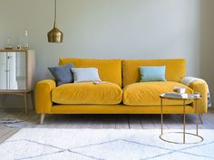 All our sofas come in a range of lovely grey fabrics. Handmade & upholstered in Blighty, our sofas are seriously squishy. Strudel, Oranges Sofa, Mustard Sofa, Loaf Sofa, Yellow Sofa, Sofa Colors, Sofa Frame, Velvet Sofa, Curtains With Blinds