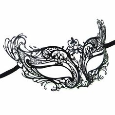 Catwoman Eco Black Masquerade Mask- This daring mask is crafted in black metal and adorned with opulent Swarovski crystals. vivomasks.com