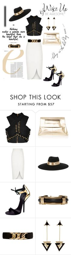 """""""One Of The Best"""" by belinda54-1 ❤ liked on Polyvore featuring Balmain, WALL, River Island, Maison Michel, Giuseppe Zanotti, Isabel Marant, Forever 21 and Hanut Singh"""