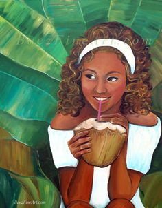 """Coconut Girl"" by Elizabeth Baez, I want this print for my little Arianna's room."